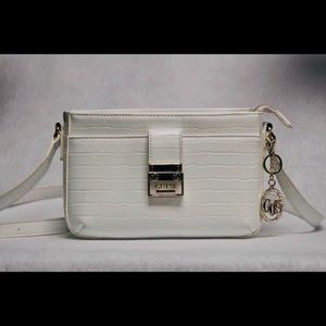 Guess white purse